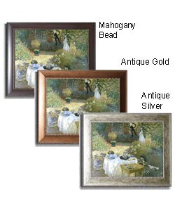 Claude Monet 'The Lunch' Framed Canvas Art