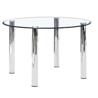 Best Master Furniture 47 Inch Round Glass Dining Table