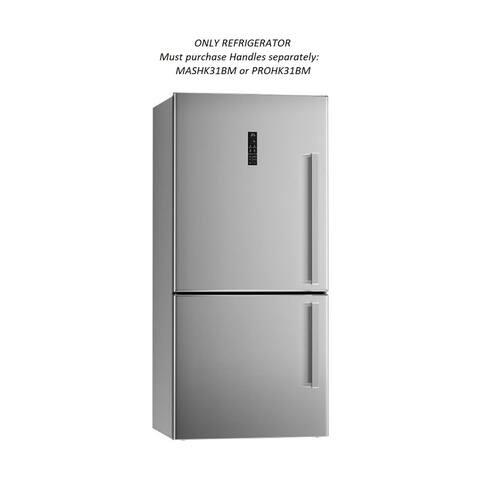 "31"" Refrigerator-Bottom Mount-left swing. MASHK31BM or PROHK31BM Handles must purhase separately."