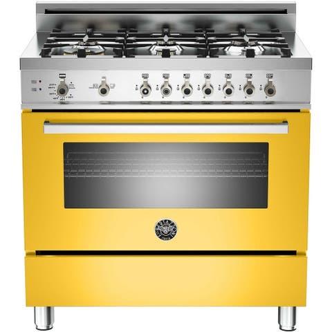"36"" Pro 6 Burner Range Yellow"