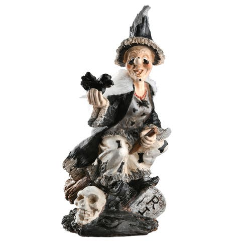 """11"""" Witch Halloween Table Decor"""