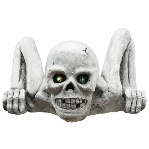 "10"" Crawling Skull Halloween Decor"