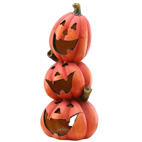 "24"" Stacked Pumpkins Halloween Decor"