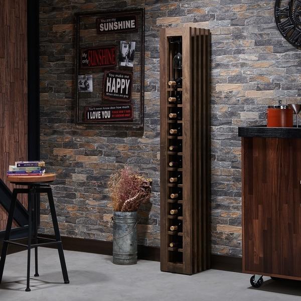 Furniture of America Gese Modern Metal 11 Slots Standing Wine Rack. Opens flyout.