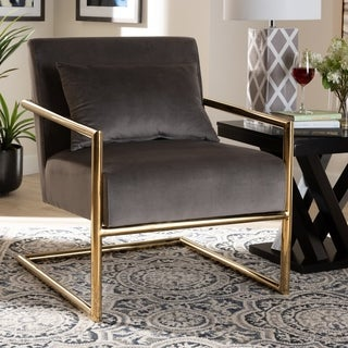 Silver Orchid Ayres Glam and Luxe Upholstered Lounge Chair