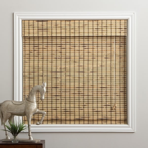 Arlo Blinds Corded Rustique Bamboo Roman Shade with 74 Inch Height