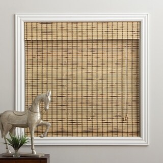 "Rustique Bamboo Roman Shade 16 to 74"" Wide x 74"" Height"