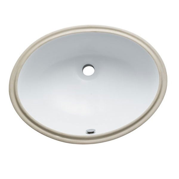 Courtyard Undermount White Lavatory Sink