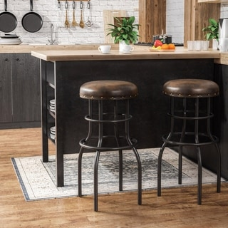 Link to Furniture of America Vigo Rustic Bronze Counter Height Barstool (As Is Item) Similar Items in As Is