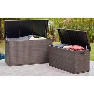 Outdoor Garden Storage Container Wicker Deck Box by Moda Furnishings