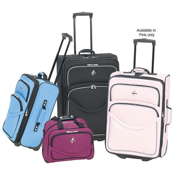 Atlantic Luggage Escapade 4-piece Luggage Set (Pink) - Free ...