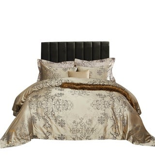 Link to Duvet Cover Set, 6 Pieces Traditional Jacquard Bedding by Dolce Mela Similar Items in Duvet Covers & Sets