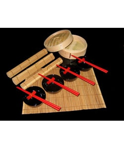 Red Vanilla 18-piece Bamboo Steamer Set