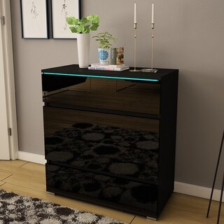 Strick & Bolton Cyrena Glossy Modern Dresser