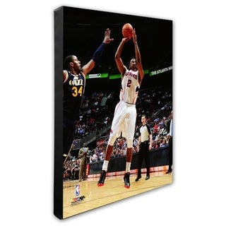 NBA Joe Johnson 2011 12 Action Stretched Canvas Officially Licensed