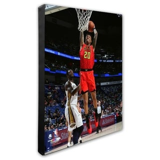 NBA John Collins 2018 19 Action Stretched Canvas Officially Licensed