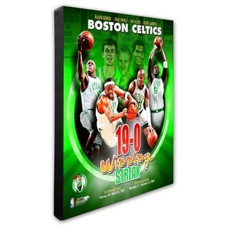 NBA 2008 09 Boston Celtics 19 0 Portrait Plus Stretched Canvas Officially Licensed