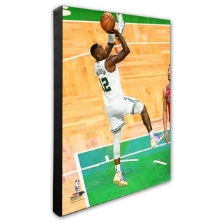 NBA Terry Rozier 2017 18 Playoff Action Stretched Canvas Officially Licensed