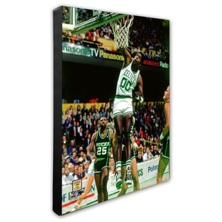 NBA Robert Parish 1987 Action Stretched Canvas Officially Licensed
