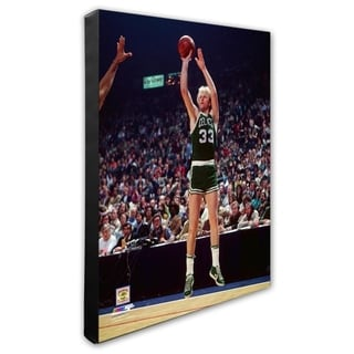 NBA Larry Bird Action Stretched Canvas Officially Licensed