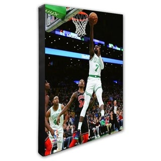 NBA Jaylen Brown 2018 19 Action Stretched Canvas Officially Licensed