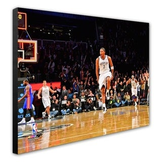 NBA Joe Johnson 2012 13 Action Stretched Canvas Officially Licensed
