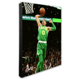 NBA Jayson Tatum 2018 19 Action Stretched Canvas Officially Licensed