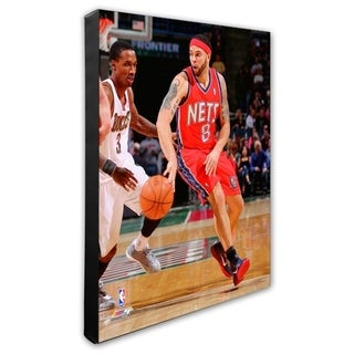 NBA Deron Williams 10 11 Action Stretched Canvas Officially Licensed