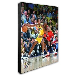 NBA Michael Jordan Kobe Bryant 1998 Action Stretched Canvas Officially Licensed