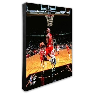 NBA Michael Jordan 1996 Action Stretched Canvas Officially Licensed