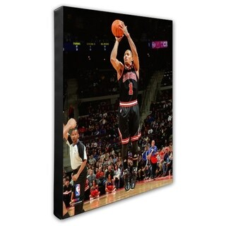 NBA Derrick Rose 2010 11 Action Stretched Canvas Officially Licensed
