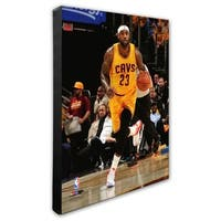 NBA LeBron James 2014-15 Action Stretched Canvas - Officially Licensed