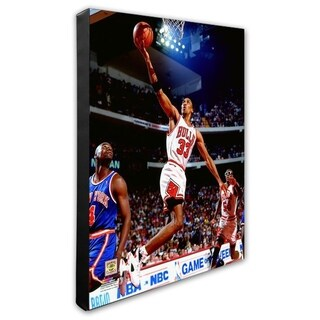 NBA Scottie Pippen 1993 94 Action Stretched Canvas Officially Licensed