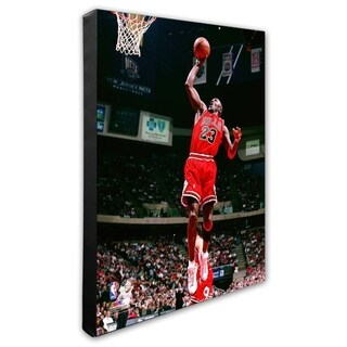 NBA Michael Jordan 1997 98 Action Stretched Canvas Officially Licensed