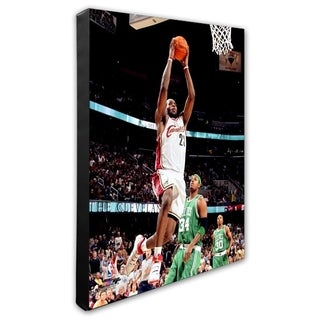 NBA LeBron James 06 07 Action Stretched Canvas Officially Licensed