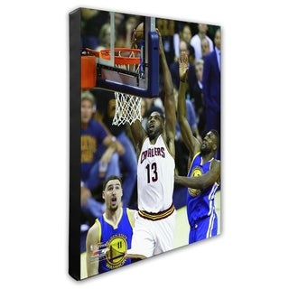 NBA Tristan Thompson Game 6 Of The 2016 NBA Finals Stretched Canvas Officially Licensed