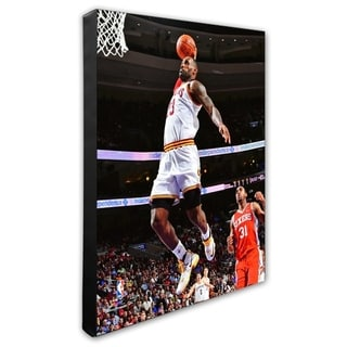 NBA LeBron James 2015 16 Action Stretched Canvas Officially Licensed