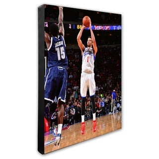 NBA Michael Carter Williams 2014 15 Action Stretched Canvas Officially Licensed