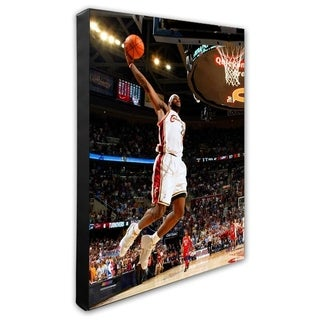 NBA LeBron James 2007 Playoff Action Stretched Canvas Officially Licensed