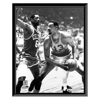 NBA B Russell W Chamberlain 2 Framed Photo Officially Licensed