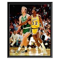 NBA Larry Bird and Magic Johnson Framed Photo - Officially Licensed