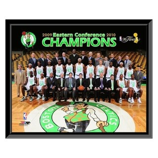 NBA 2009 10 Boston Celtics Team Photo With Eastern Conference Champions Overlay Framed Photo Officially Licensed