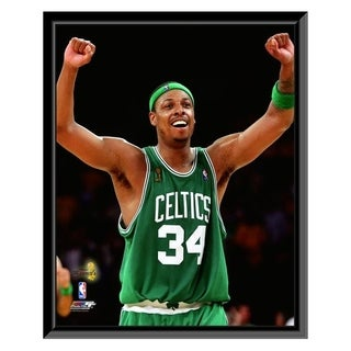 NBA Paul Pierce Game 4 Of The 2008 NBA Finals Celebration 18 Framed Photo Officially Licensed
