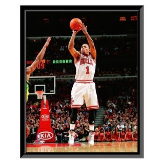 NBA Derrick Rose 2010 11 Action Framed Photo Officially Licensed