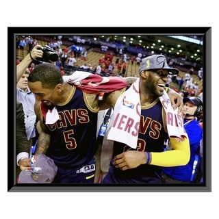 NBA J R Smith LeBron James Game 6 Of The 2016 Eastern Conference Finals Framed Photo Officially Licensed