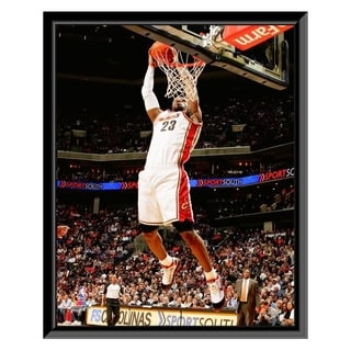 NBA LeBron James 2009 10 Action Framed Photo Officially Licensed