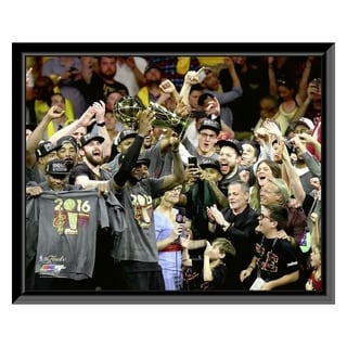 NBA The Cleveland Cavaliers Celebrate Winning Game 7 Of The 2016 NBA Finals Framed Photo Officially Licensed