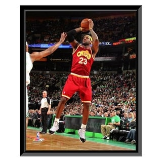 NBA LeBron James 2009 10 Playoff Action Framed Photo Officially Licensed