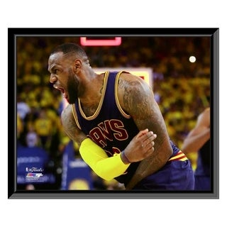 NBA LeBron James Game 2 Of The 2015 NBA Finals Framed Photo Officially Licensed