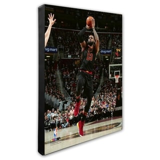 NBA LeBron James 2017 18 Playoff Action Stretched Canvas Officially Licensed
